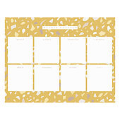 Vector Weekly Planner page template, terrazzo background
