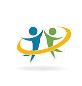 Teamwork group success vector