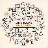 Halloween Line Vector Icon Pack