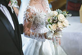 Beautiful bouquet wedding bride wed young adult wedding design.