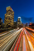 Downtown Los Angeles, California, USA skyline