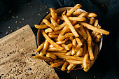 appetizing french fries in a bowl
