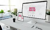 digital marketing devices mockup