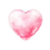Vector cotton candy heart icon valentine sweet