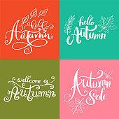 Autumn lettering