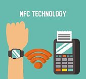 payment approved through smart watche with nfc online transaction