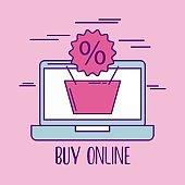 buy online basket shopping discount percent