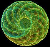 Abstract fractal illustration for creative design