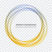 Abstract vector background, round futuristic wavy illustration eps10