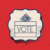 Box of vote inside frame design