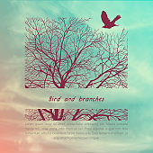 Crows and tree banner