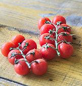 Bunch of fresh cherry tomatoes