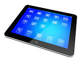 Tablet PC on a white
