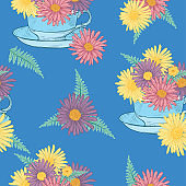 Seamless Repeating Tea Pattern
