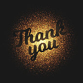 Thank You Glowing Particles Vector Background