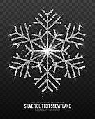 Vector Christmas Decoration Silver Snowflake