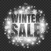 Winter Sale Illustration on Transparent Background Vector
