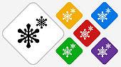 Snowflakes Color Diamond Vector Icon