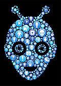 Robot s Blue Icon Pattern Background