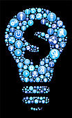 Money Idea Blue Icon Pattern Background