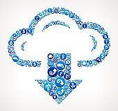 Download Cloud  Money Blue Icon Pattern Background