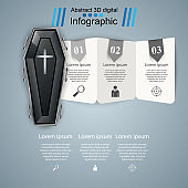 Coffin icon. Business Infographics