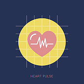 Heart Pulse Icons - Graphic Icon
