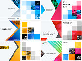Set of abstract vector design for graphic template. Creative modern business background