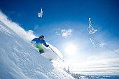 Ski resort on a sunny day
