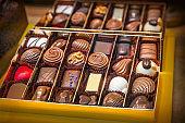 Close up of chocolate box