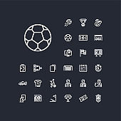football linear icons