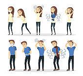 Man and woman symptoms