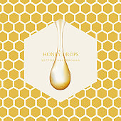Honey Drop and Honey Background