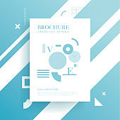 Brochure background with geometric shapes, abstract background