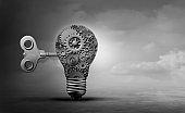 Machine Concept Light Bulb