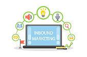 Inbound marketing illustration.