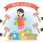 Big sale illustration.