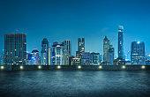 Bangkok urban cityscape skyline