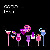 Cocktails vector background