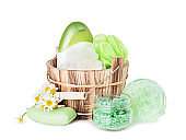 Hygienic accessories of green color
