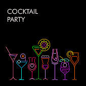 Cocktail Party neon background