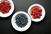 Fresh Berries on plate