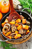 Chicken liver with pumpkin