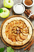 Galette with apples and cinnamon