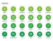 Text Editing User Interface (UI) Vector Icon Set. High Quality Minimal Lined Icons for All Purposes.