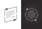 Remark Quote Template Bubble. Template Vector Set.