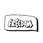 Freedom quote. Vector concept desing word.