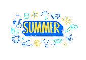 Summer vacation concept. Vector illustration.