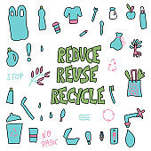 Reduce Reuse Recycle concept. Vector design.