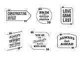 Typographic Quote Template Bubble. Template Vector Set.